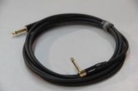 """SHNOOR IC124-JMJMR-B-5m Инструментальный кабель про-уровня с чёрными прямым и угловым разъёмами 1/4"""" TS Jack длиной 5м"""