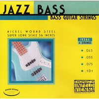 Thomastik JR364 Jazz Round Wound Комплект струн для бас-гитары, никель, круглая оплетка, 43-101