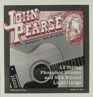 John Pearse 1410S струны для 12 струнной акустической гитары 10.10.14.14.10.23.12.29.18.39.27.49, шёлк/фосфор/бронзовая навивка