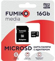 Карта памяти FUMIKO 16GB MicroSDHC class 10 (c адаптером SD)