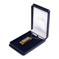 Hohner M110 Little Lady Губная Гармошка миниатюрная позолоченная в подарочном футляре