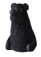 Керамика Щипановых SB06 Свистулька большая Медведь, черная