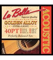 La Bella 40 PT Extra Light Струны для акустической гитары