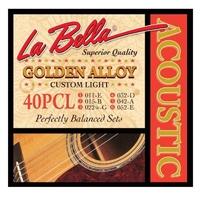 LA BELLA 40PCL Струны для акустической гитары