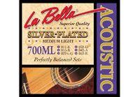 La Bella 700ML Medium Light Комплект струн для акустической гитары