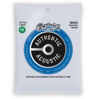 MARTIN MA530 AUTHENTIC комплект струн для акустической гитары, Фосфор-Бронза