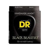 DR BKB-45 Black Beauties Комплект струн для бас-гитары, сталь, с покрытием, Medium, 45-105