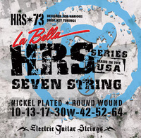 La Bella HRS-73 Hard Rockin Steel Комплект струн для 7-ми струнной электро-гитары