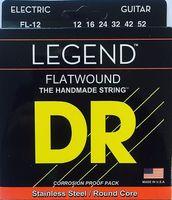 DR FL-12 LEGEND Lite Комплект струн для 6-струнной электро-гитары с полированной плоской обмоткой. 12-16-24-32-42-52 USA