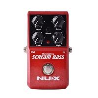 Nux Scream-Bass Педаль эффекта перегруза, для бас-гитары