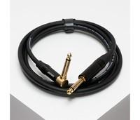 """SHNOOR IC124-JMJMR-B-2m Инструментальный кабель про-уровня с чёрными прямым и угловым разъёмами 1/4"""" TS Jack длиной 2"""
