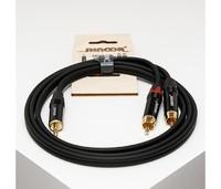 SHNOOR MJ2RCA-1m Y-кабель миниджек - 2 RCA с литым копусом и позолоченными контактами, 1м