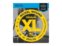 D'Addario ESXL125 Steinberger Комплект струн для электрогитары, Super Light Top/Reg Bott, 9-46