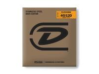 Dunlop DBFS40120S Flatwound Short Scale Комплект струн для 5-струнной бас-гитары, сталь, 40-120