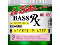 La Bella RX-N5C RX – Nickel Комплект струн для 5-струнной бас-гитары, никелированные, 45-130