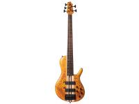 Cort A5-Plus-SC-AOP Artisan Series Бас-гитара 5-струнная, цвет янтарь, с чехлом