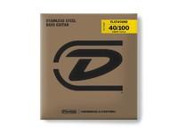 Dunlop DBFS40100S Flatwound Short Scale Комплект струн для бас-гитары, сталь, 40-100