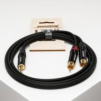 SHNOOR MJ2RCA-3m Y-кабель миниджек - 2 RCA с литым копусом и позолоченными контактами, 3 м