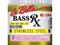 La Bella RX-S4A RX – Stainless Комплект струн для бас-гитары, нерж.сталь, 40-100