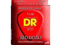 DR RDE-11 Струны для электрогитары - серия Extra Life, Red coated