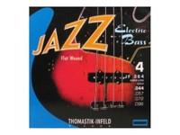 Thomastik JF364 Jazz Flat Wound Комплект струн для бас-гитары, никель, плоская оплетка, 44-96
