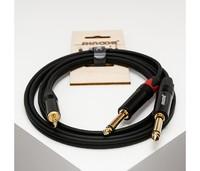 SHNOOR MJ2JM-1m Y-кабель 3,5 мм миниджек - 2 моно-джека 6,3 мм, 1 м