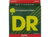 DR RPL-10 Rare Комплект струн для акустической гитары, фосфорная бронза, 10-48