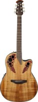 OVATION CE44P-FKOA Elite® Plus Celebrity® Mid-Depth - Figured Koa