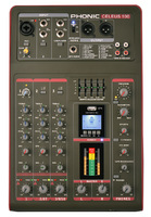 Phonic CELEUS 100 Микшерный пульт 5-ти канальный, USB плеер/рекордер, USB аудиоинтерфейс, Bluetooth