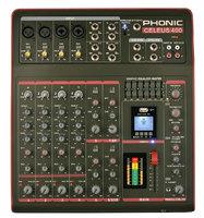 Phonic CELEUS 400 Микшерный пульт 8-канальный, USB плеер/рекордер, USB аудиоинтерфейс, Bluetooth
