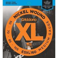 ESXL160 Nickel Wound Комплект струн для бас-гитары, Medium, 50-105, шарик на 2 концах