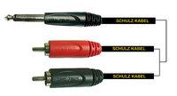 Schulz RCA 12 - шнур 2*RCA штекер - JACK 6.3 моно штекер, 6 м