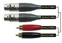 Schulz RRXXF 2 - шнур 2 XLR-гнезда на 2 RCA-штекера, 2 м