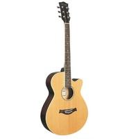 F521-N Акустическая гитара, с вырезом, цвет натуральный