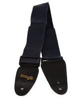 STAGG BJA006BL - нейлоновый гитарный ремень с регулировкой длины, цвет: синий