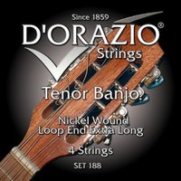 D'ORAZIO 188 Nickel wound Струны для банджо (Пр-во Италия) (10-14-23w-30w) 4 струны
