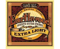 Ernie Ball P02006 Earthwood Extra Light Комплект струн для акустической гитары, бронза, 10-50