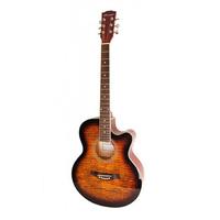 Caraya F511-BS Акустическая гитара, с вырезом, санберст