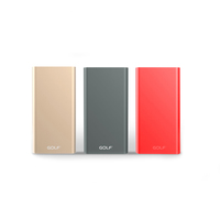 GOLF EDGE5/ POWERBANK 5000 MAH + MICRO USB, LIGHTING /OUT USB 2.1A/RED АККУМУЛЯТОР