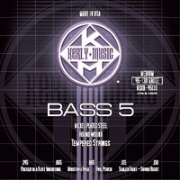 KERLY KQXB-45130 Nickle Plated Steel NPS Tempered Round Wound струны для 5-струнной бас гитары